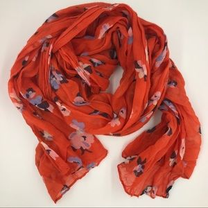 Accessories - Red floral scarf